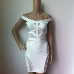 White premium bandage dress